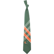 Eagles Wings NCAA Miami Hurricanes Woven Grid Tie