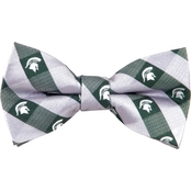 Eagles Wings NCAA Michigan State Spartans Plaid Bow Tie