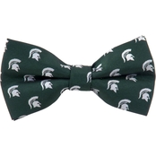 Eagles Wings NCAA Michigan State Spartans Woven Repeat Logo Bow Tie