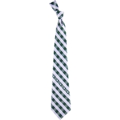 Eagles Wings NCAA Michigan State Spartans Woven Check Tie