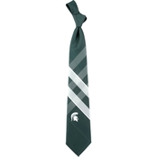 Eagles Wings NCAA Michigan State Spartans Woven Grid Tie