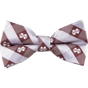 Eagles Wings NCAA Mississippi State Bulldogs Woven Check Bow Tie