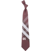 Eagles Wings NCAA Mississippi State Bulldogs Woven Grid Tie