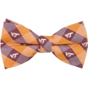 Eagles Wings NCAA Virginia Tech Hokies Woven Check Bow Tie