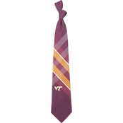 Eagles Wings NCAA Virginia Tech Hokies Woven Grid Tie