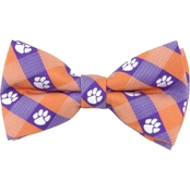 Eagles Wings NCAA Clemson Tigers Woven Check Bow Tie