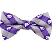 Eagles Wings NCAA Kansas State Wildcats Woven Check Bow Tie