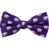 Eagles Wings NCAA Kansas State Wildcats Woven Repeat Logo Bow Tie