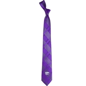 Eagles Wings NCAA Kansas State Wildcats Woven Skinny Plaid Tie