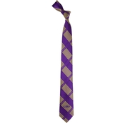 Eagles Wings NCAA LSU Tigers Woven Skinny Plaid Tie