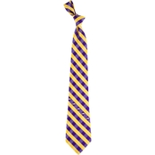 Eagles Wings NCAA LSU Tigers Woven Check Tie