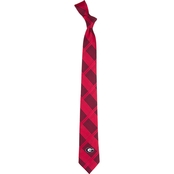 Eagles Wings NCAA Georgia Bulldogs Woven Skinny Plaid Tie