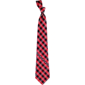 Eagles Wings NCAA Georgia Bulldogs Woven Check Tie