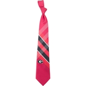 Eagles Wings NCAA Georgia Bulldogs Woven Grid Tie