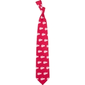 Eagles Wings NCAA Indiana Hoosiers Prep Print Silk Tie