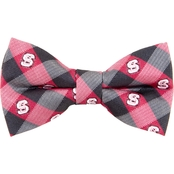 Eagles Wings NCAA North Carolina State Wolfpack Woven Check Bow Tie
