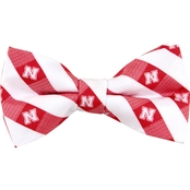 Eagles Wings NCAA Nebraska Cornhuskers Woven Check Bow Tie