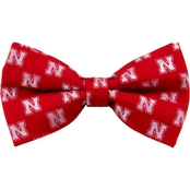 Eagles Wings NCAA Nebraska Cornhuskers Woven Repeat Logo Bow Tie