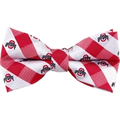 Eagles Wings NCAA Ohio State Buckeyes Woven Check Bow Tie