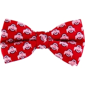 Eagles Wings NCAA Ohio State Buckeyes Woven Repeat Logo Bow Tie