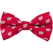 Eagles Wings NCAA Wisconsin Badgers Woven Repeat Logo Bow Tie
