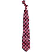 Eagles Wings NCAA Wisconsin Badgers Woven Check Tie