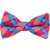 Eagles Wings NCAA Kansas Jayhawks Woven Check Bow Tie