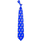 Eagles Wings NCAA Kansas Jayhawks Prep Print Silk Tie