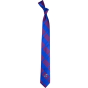 Eagles Wings NCAA Kansas Jayhawks Woven Skinny Plaid Tie