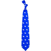 Eagles Wings NCAA Kentucky Wildcats Prep Print Silk Tie