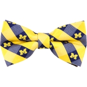 Eagles Wings NCAA Michigan Wolverines Woven Check Bow Tie