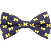 Eagles Wings NCAA Michigan Wolverines Woven Repeat Logo Bow Tie