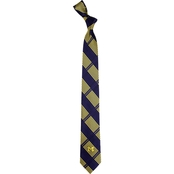 Eagles Wings NCAA Michigan Wolverines Woven Skinny Plaid Tie