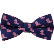 Eagles Wings NCAA Mississippi Ole Miss Rebels Woven Repeat Logo Bow Tie