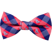 Eagles Wings NCAA Mississippi Ole Miss Rebels Woven Check Bow Tie