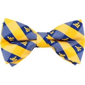 Eagles Wings NCAA West Virginia Mountaineers Woven Check Bow Tie