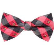Eagles Wings NCAA Louisville Cardinals Woven Check Bow Tie