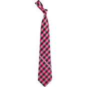 Eagles Wings NCAA North Carolina State Wolfpack Woven Check Tie