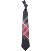 Eagles Wings NCAA Texas Tech Red Raiders Woven Grid Tie