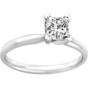 14K Gold 1 ct. Princess Cut Diamond Solitaire Ring