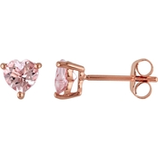 Sofia B. 10K Pink Gold Morganite Ear Pin Earrings