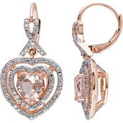 Sofia B. 10K Pink Gold 1/2 CTW Diamond and Morganite Earrings