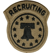 Army Patch Recruiting Command with Tab Velcro (OCP)