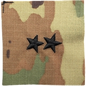 Army Major General Rank Point to Center Sew-on O-8 (OCP)