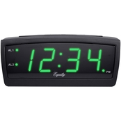 Equity by La Crosse 0.9 in. Display LED Alarm Clock