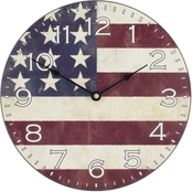 Equity by La Crosse 12 in. MDF Flag Wall Clock