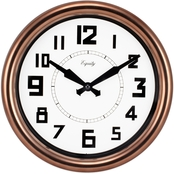 Equity by La Crosse 12 in. Analog Copper Wall Clock