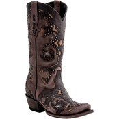 Lucchese Women's Fiona Western Studded Scarlett Boots