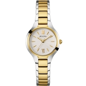Bulova Women's Two Tone Stainless Steel Watch 28MM 98L217