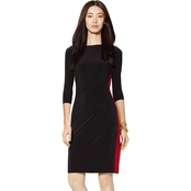Lauren Ralph Lauren Drew Colorblock Side Shirred Dress